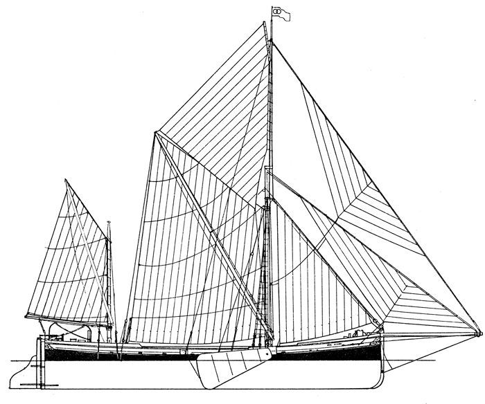 Sail Plan of S.B.Raybel - L.O.A 112'